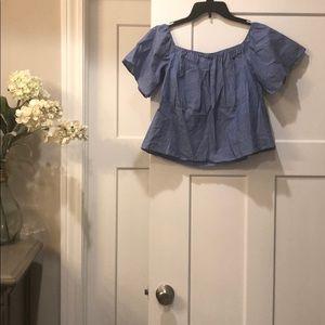 Flutter sleeve shirt